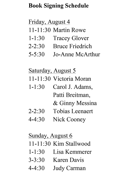 AR Conference book signing schedule