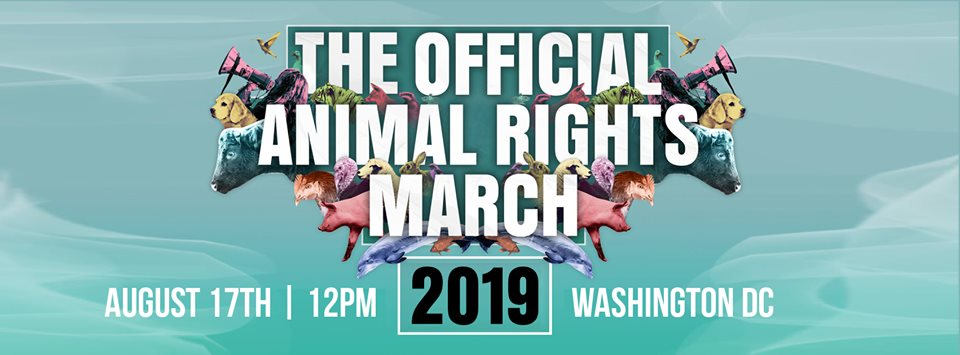 2019 Animal Rights march poster for Washington DC