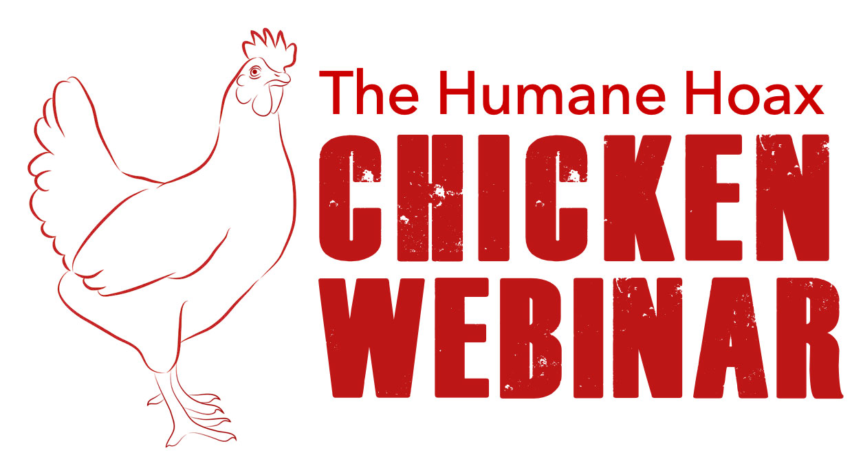 Humane Hoax logo with drawing of hen