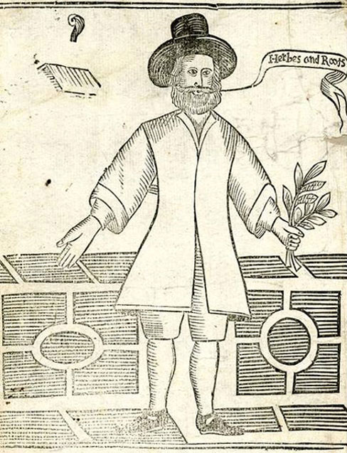 Drawing of a 17th century vegan