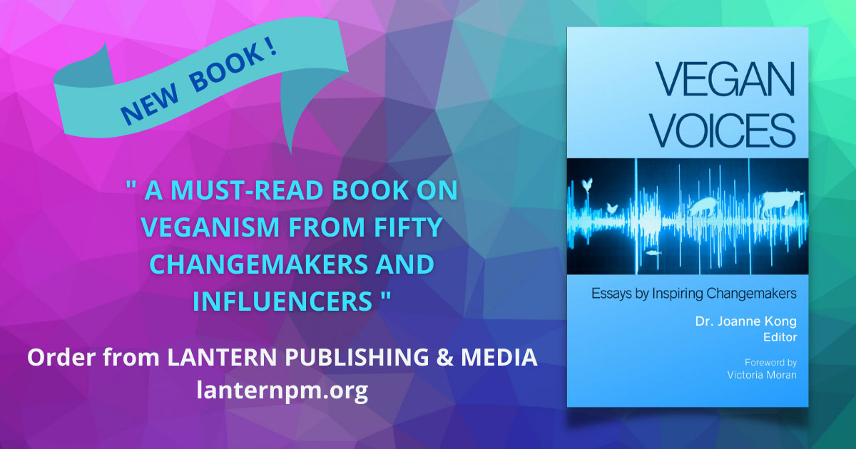 banner: New Book! A must-read book on veganism from fifty changemakers and influencers