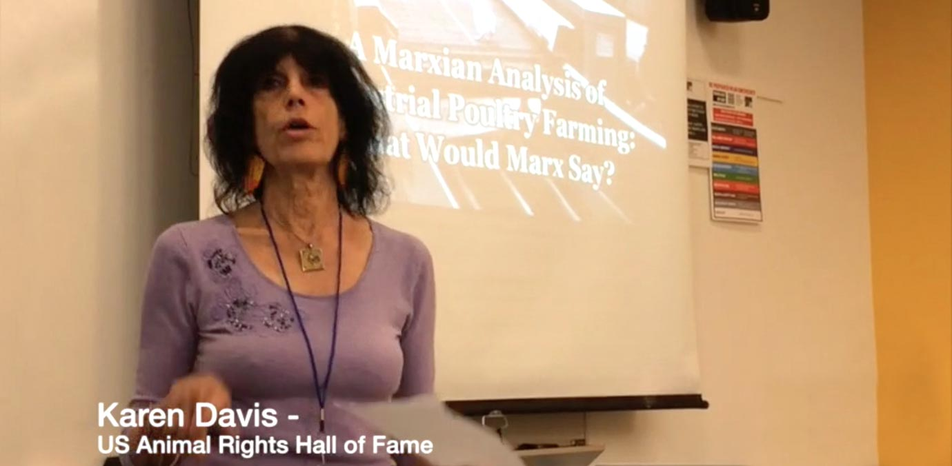 Karen presenting at the Left Forum Panel