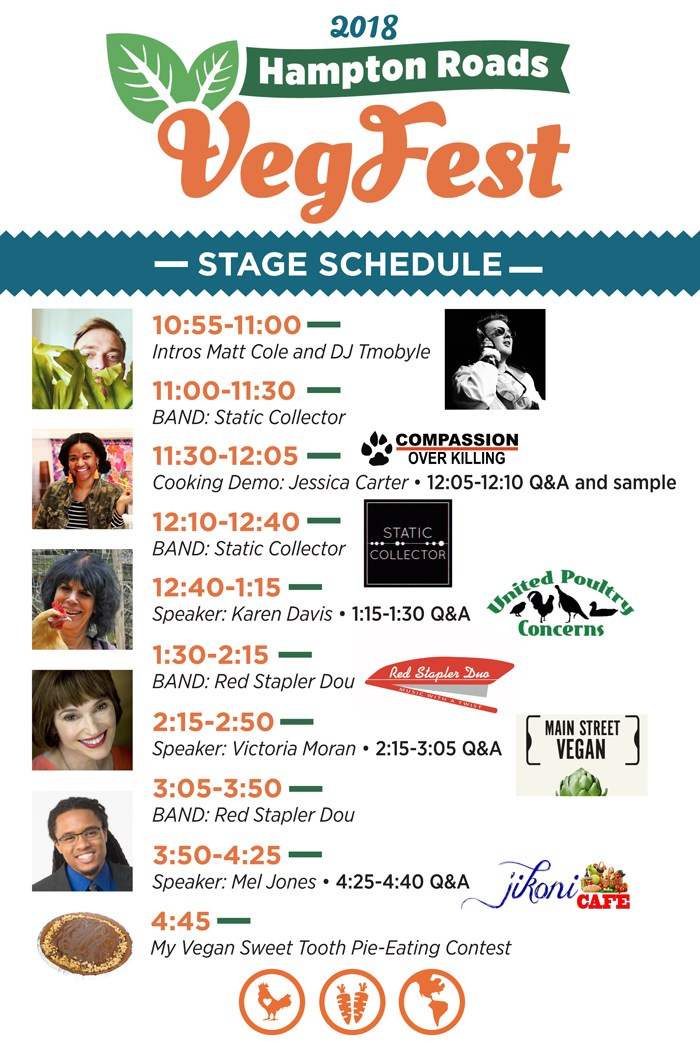 Hampton VegFest speaker schedule