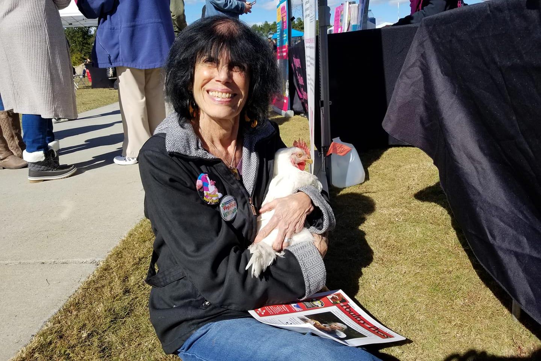 Karen holding Simi