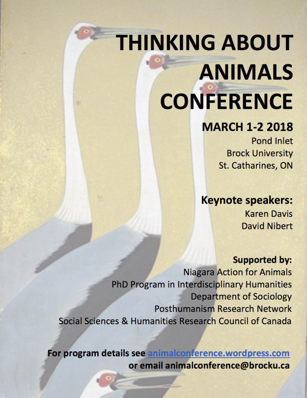 Thinking About Animals conference poster