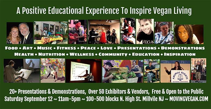 Vegstock 2015 Millville's Moving Vegan Festival. A positive educational experience to inspire vegan living.