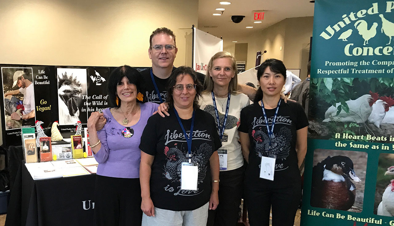Karen, Franklin, Jessica, Hope and Liqin at the 2017 Animal Rights conference