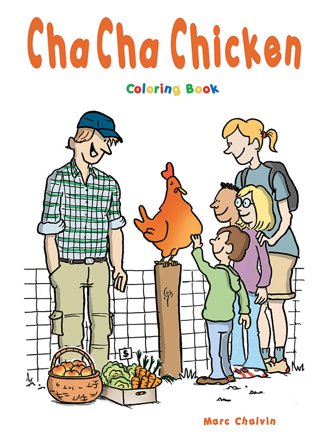 Cha Cha Chicken Coloring Book cover