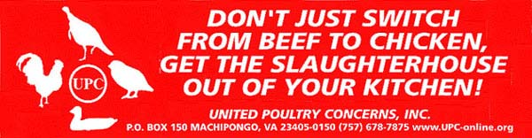 [Don't Just Switch from Beef to Chicken: Get the Slaughterhouse Out of Your Kitchen]