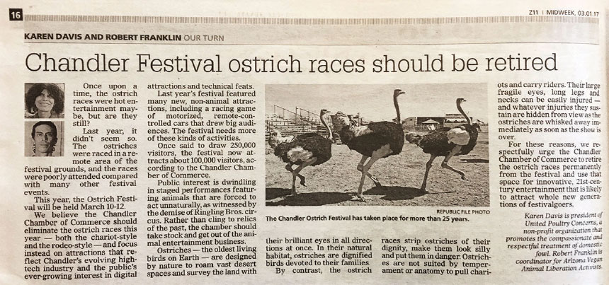 Chandler Festival Ostrich Races Should Be Retired