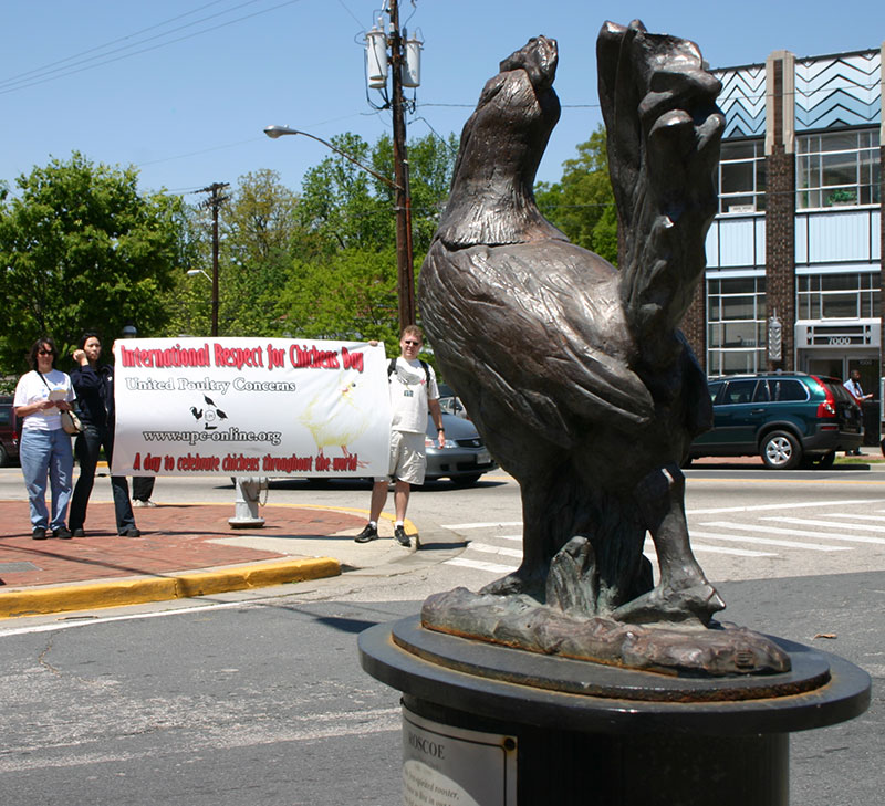 Activists gather at Roscoe Statue