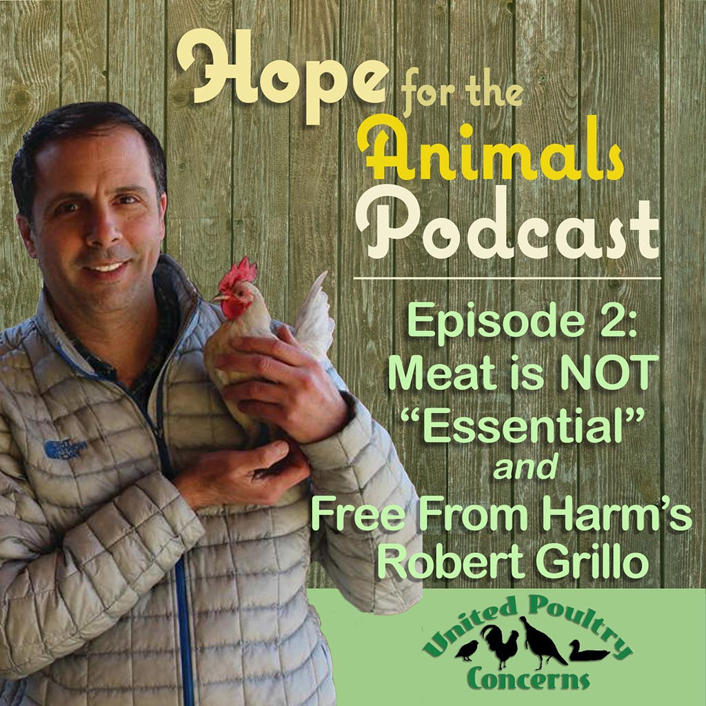 Poster with Robert Grillo holding a chicken